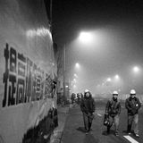 Beijing authorities boost the smog alert red level Royalty Free Stock Photography
