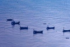 Sporadic fishing boat - Xiapu scenery royalty free stock images