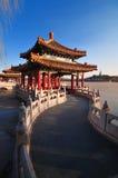 Beijing Beihai Parkï ¼Kina trädgård Royaltyfri Fotografi