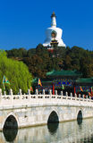 Beijing beihai park of china. Beautiful Scene of Beijing Imperial Park: Beihai, a historical park with history over 1000 years Royalty Free Stock Image