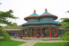 Beijing beihai park pavilion Stock Photo