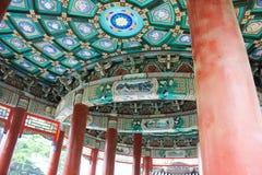 Beijing beihai park pavilion Stock Photos