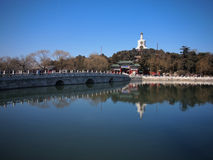 The Beijing Beihai Park White pagoda Royalty Free Stock Images