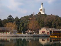 The Beijing Beihai Park White pagoda Stock Photos