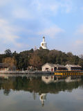The Beijing Beihai Park White pagoda Stock Photo