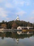 The Beijing Beihai Park White pagoda Stock Photo