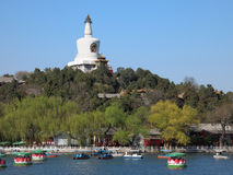 The Beijing Beihai Park White pagoda Royalty Free Stock Photos