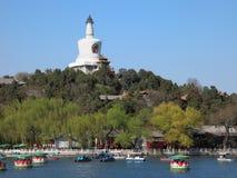 The Beijing Beihai Park White pagoda Royalty Free Stock Photos