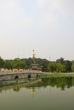 The Beijing Beihai Park White pagoda Royalty Free Stock Photo