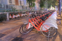 Beijing bicycle rental government scheme China Royalty Free Stock Photo