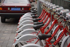 Beijing bike rental Stock Image