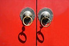 beijing budynków drzwiowy czerwony mieszkaniowy morze Fotografia Stock