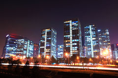 Beijing building at night Stock Photography