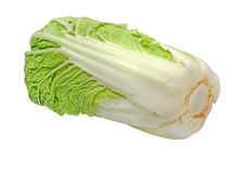 Beijing cabbage.Isolated. Royalty Free Stock Photography