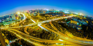 Beijing CaiHuYing overpass Night Royalty Free Stock Photo