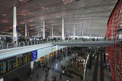 Beijing Capital  Airport. China's largest airport is the Beijing Capital Airport Stock Images