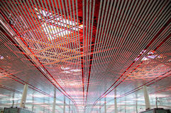 Beijing Capital Airport I. Ceiling structure of Beijing Capital Airport, China Stock Photos