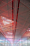 Beijing Capital Airport II. Ceiling structure of Beijing Capital Airport, China Royalty Free Stock Photos
