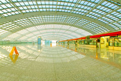 Beijing capital international airport construction landscape and Royalty Free Stock Images