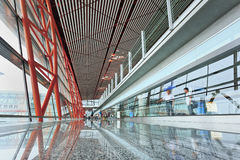 Beijing Capital International Airport interior. Royalty Free Stock Images