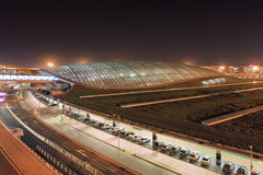 Beijing Capital International Airport, train terminal, China Royalty Free Stock Images