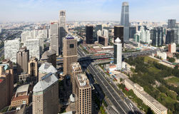 Beijing CBD city Economic centers skyline Royalty Free Stock Photos