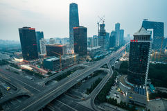 Beijing CBD International Trade Bridge Royalty Free Stock Images