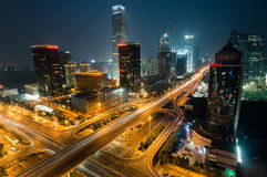 Beijing CBD International Trade Night Royalty Free Stock Photography