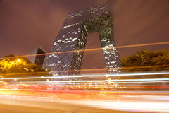 Beijing CCTV Tower Night Stock Photo