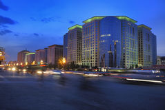 Beijing Chang An Avenue building Night scenes Royalty Free Stock Images
