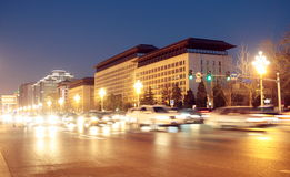 Beijing changan avenue at night Stock Photography