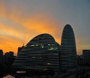 Beijing Chaoyang Wangjing SOHO morning clouds over Stock Photography