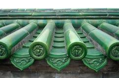 beijing chińskiego szczegółu niebiańskie świątynne płytki Zdjęcie Stock