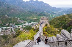 BEIJING, CHINA – October 14, 2013: The great Wall of China stock photos