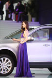 Beijing China April 27,female model in auto show Stock Photography