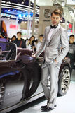 Beijing China April 27,male model in auto show Stock Image