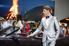 Beijing China April 27,male model in auto show Royalty Free Stock Photography