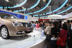 Beijing China April 27,visitors in auto show Royalty Free Stock Photo