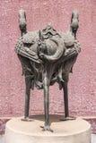 Metal statue of three herons, Forbidden City Beijing.