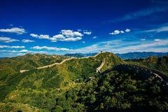 Beijing, China - AUG 11, 2014: Jinshanling Great Wall of China stock photo