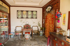 Beijing, China. Chinese Interior apartments Stock Image