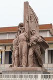 Beijing, China - circa July 2015: Communist monument at Tiananmen Square, Beijing,  China Royalty Free Stock Photography