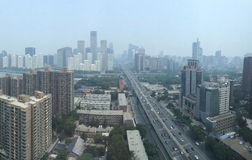 BEIJING, CHINA - CIRCA JUNE 2015, the view on Beijing's financia Royalty Free Stock Photography