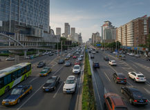 BEIJING, CHINA - CIRCA JUNE 2015, the view on the road highly lo Royalty Free Stock Photo