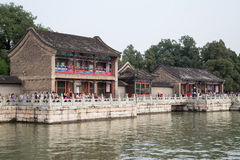 Beijing, China - circa September 2015: Ouxiang (Fragrance of Lotus) House in Summer Palace,  Beijing Stock Photography