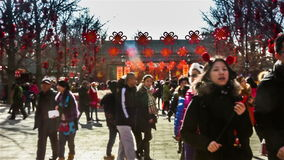 Beijing,China-Feb 2, 2014: thousand of people visit the temple fair at Ditan Park during Chinese Spring Festival in Beijing,. China