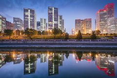 Beijing, China Financial District Stock Image
