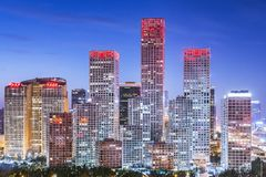 Beijing, China Financial District Stock Photography