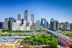 Beijing China FInancial District Skyline. Beijing, China modern financial district skyline Stock Images