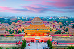 Beijing, China Forbidden City. Beijing, China at the ancient Forbidden City stock images